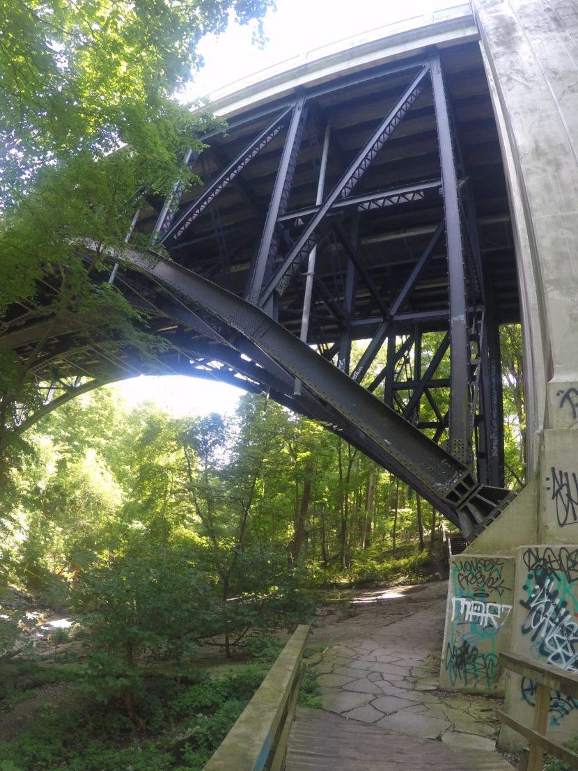 Under the St. Clair Bridge